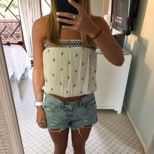 Strapless Free People top